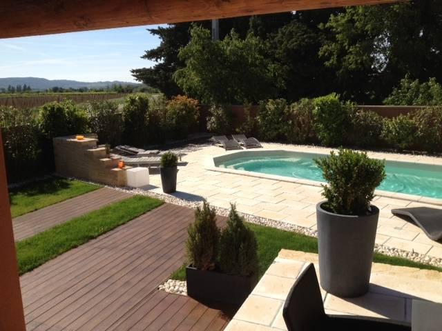 Aménagement de jardin paysager contemporain sur Castillon du Gard ...